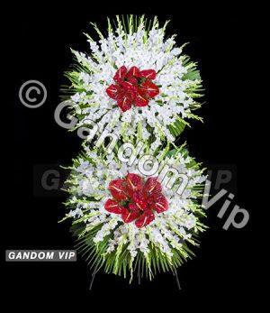 تاج گل | تاج گل ترحیم 2 طبقه کد 934