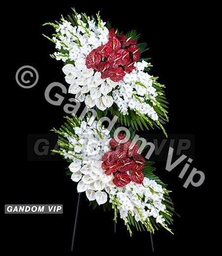 تاج گل | تاج گل ترحیم دو طبقه برای بهشت زهرا کد 936