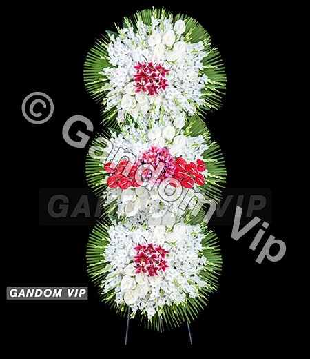 تاج گل | تاج گل ترحیم سه طبقه کد 938