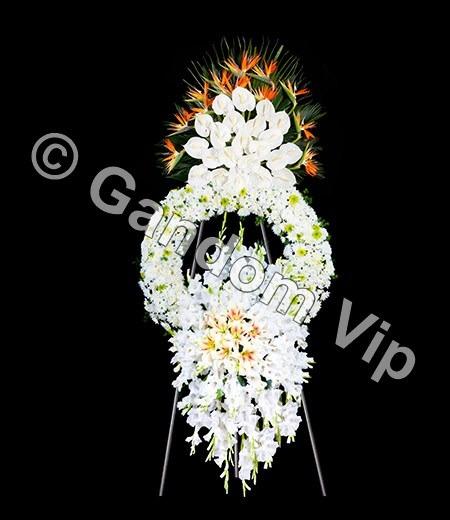عکس تاج گل ترحیم سلطنتی کد 954