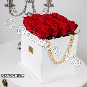 جعبه گل رز | باکس گل رز لاکچری کد 543
