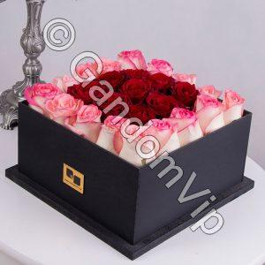 جعبه گل رز لاکچری