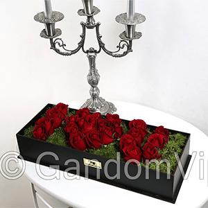 باکس گل عاشقانه | باکس گل love