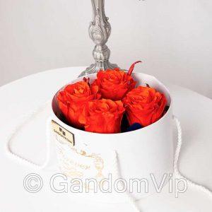 گل رز جاودان نارنجی