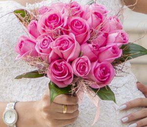 دسته گل عروس اروپایی کد 1012