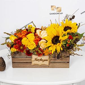 جعبه گل | جعبه گل چوبی آفتابگردون