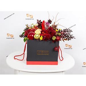 جعبه گل مینیاتوری | باکس گل و میوه