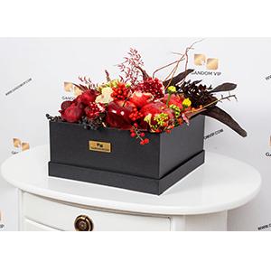 جعبه گل | باکس گل و میوه - کد 1102