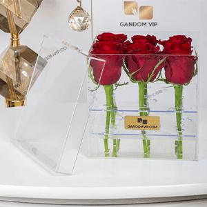 باکس گل شیشه ای لاکچری کد 374
