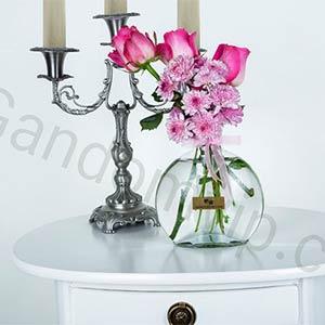 گلدان شیشه ای کد 1201