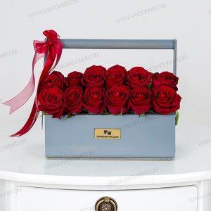 باکس گل رز هلندی قرمز