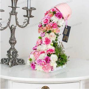 جعبه گل آبشاری با فنجان