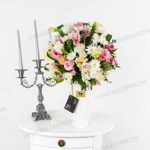 گلدان سرامیکی سفید