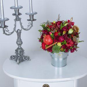 سطل گل و میوه