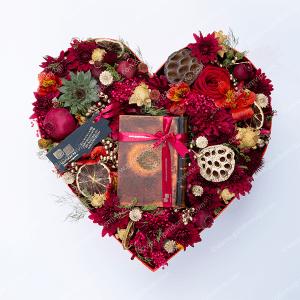 باکس گل قلبی