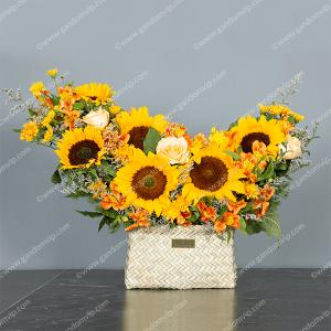 خرید باکس گل آفتابگردان