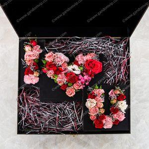 باکس گل i love u